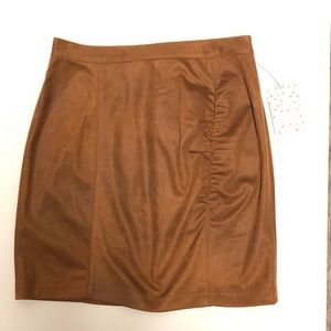 FREE PEOPLE size small RUCHED Suede Mini Skirt